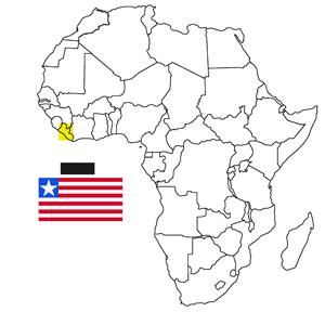 Where is Liberia location map