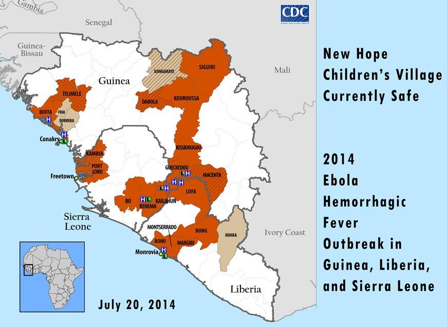 CDC West Africa Ebola map Jul 20, 2014