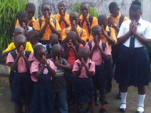 photo Children in Prayer for Marie, New Hope Children's Village